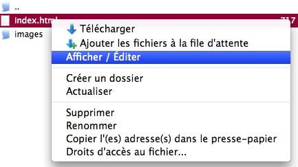 FileZilla : Afficher / Editer