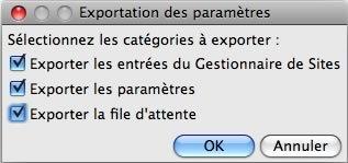FileZilla : Export des paramètres