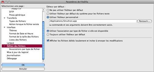 FileZilla : Edition de fichiers en ligne
